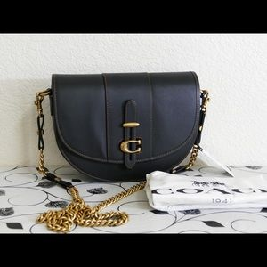 New.Coach 47846 saddle 24 leather bag